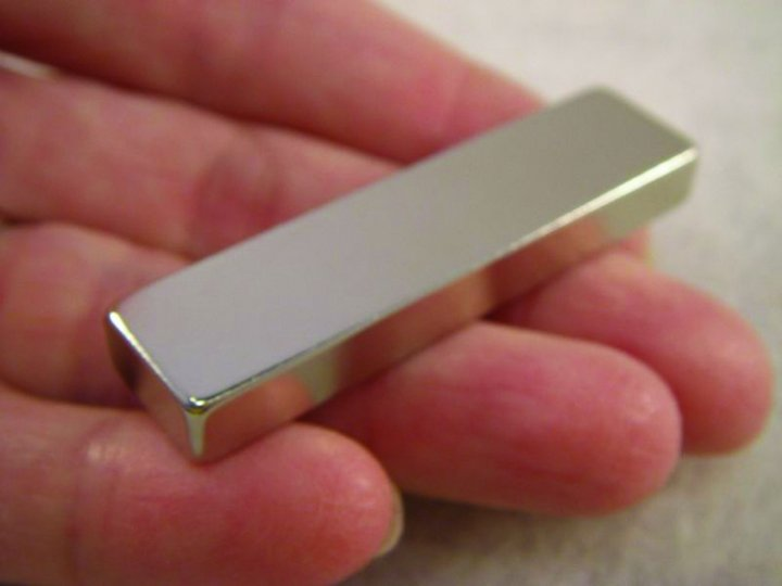 "2"" x 1/2""  Rare Earth Magnet"