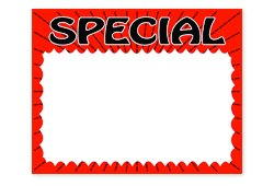 "7"" X 5.5"" Fluorescent Orange Special Splash Sign"