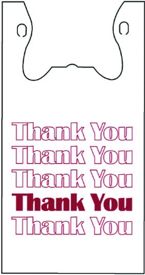 "Thank You Bag 11.5"" x 6.5"" x 22"""