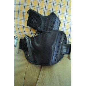 Leather Belt Slide Holster Black Large