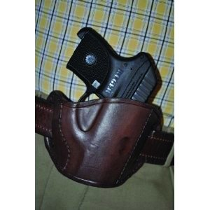 Leather Belt Slide Holster Brown Large