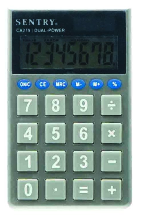 Sentry Jumbo Key Pocket Calculator