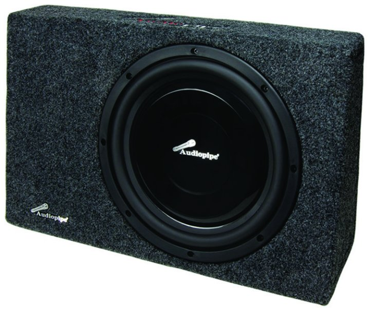 Audiopipe 12in Loaded Slim Sealed Box