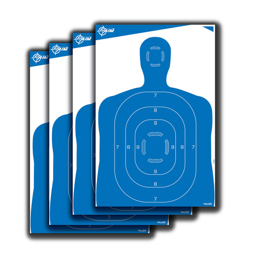 Allen EZ Aim 23 x 35 inch Blue Silhouette Target  pack of 4