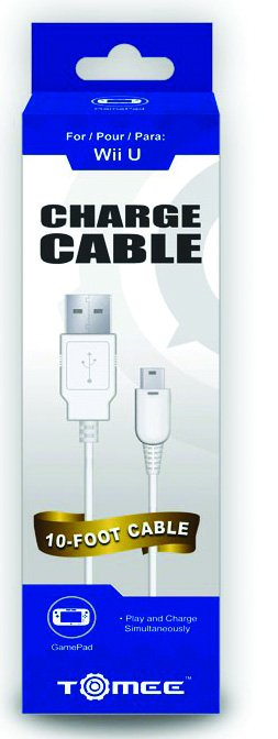 Wii U GamePad Tomee Charge Cable 10 ft