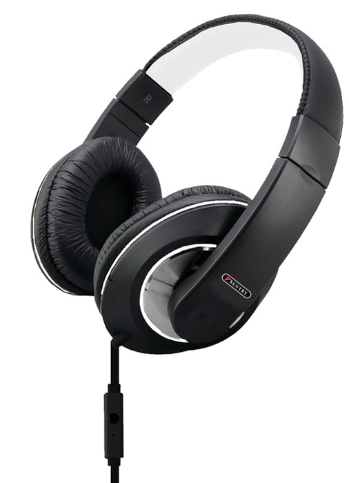 Sentry Deep Bass Headphones w/Mic Black