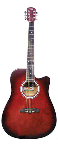 O S Acoustic Guitar Pack Red Burst