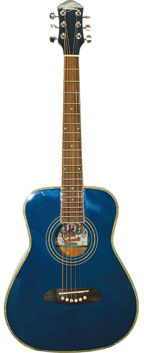 O S Half Size Acoustic SS Trans Blue