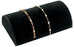 M&M 230-BK Velvet Half Moon Bracelet Display - Black