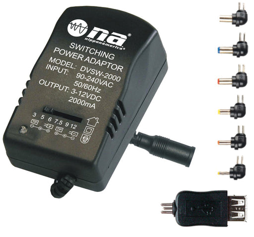 Nippon DVSW2000 Switching Power Adapter with USB (2000mA)
