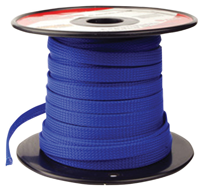 "Pipemans Expandable Braided Sleeve 3/8"" Blue"
