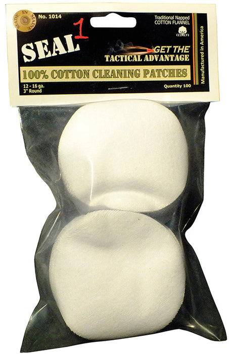 "SEAL 1 3"" Cotton Cleaning Patch 100 Pack"