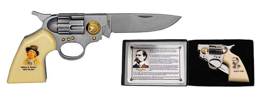 Billy the Kid Gun Knife w paper gift box