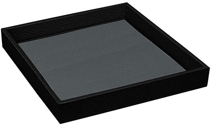 M&M LTH-2BK Textured Leatherettte Tray