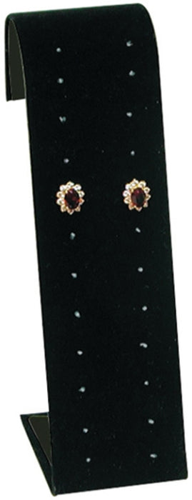 M&M 238-1 Velvet Multi-pair Earring Stand - Black
