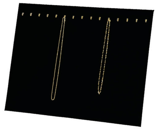 M&M 68H2BK Velvet Chain Pad with Easel 15 Hooks - Black