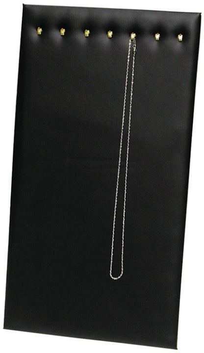 M&M 68HLBK Chain Pad w/ Easel 7 Hook Black Faux Leather