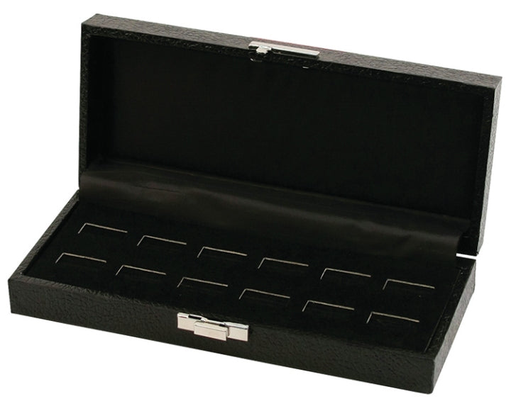 M&M 89RBK 12 Wide-Slot Ring Case - Black