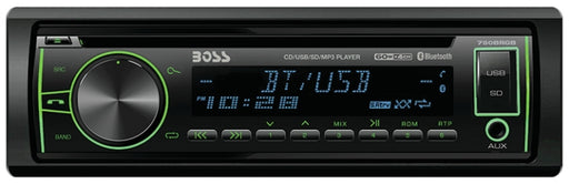 Boss Audio 750BRGB, Single Din MP3 CD AM/FM Bluetooth® Receiver