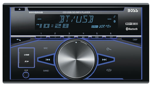 Boss 850BRGB, Double-Din MP3 CD Player AM/FM Bluetooth Receiver