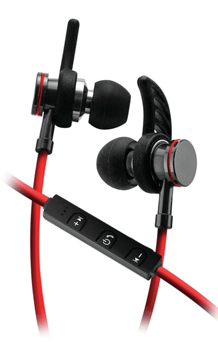 Sentry BT250 Bluetooth Stereo Earbuds with Microphone Red