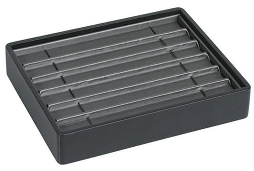 M&M BT906-87R Stackable 6 Bracelet Tray Black & Steel Grey
