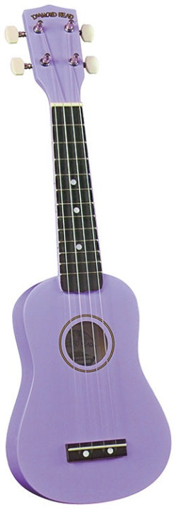 Diamond Head DU-118 Rainbow Soprano Ukulele - Violet