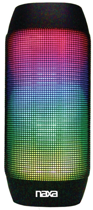 Naxa NAS-3062 Bluetooth® Speaker and MP3 Player with LED Lighting Effe