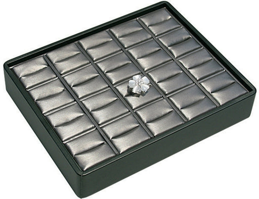 M&M RT920-87R Stackable 20 Ring Tray Black & Steel Grey