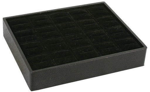 M&M RT920V-BK Stackable 20 Ring Tray Black & Black