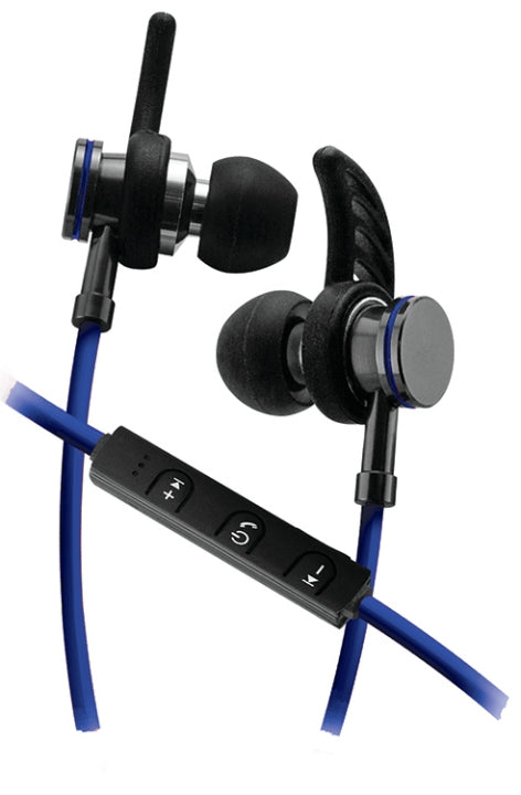 Sentry BX250BL  Bluetooth Stereo Earbuds with Microphone - Blue
