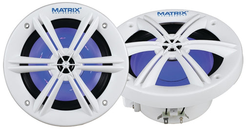 "Matrix MRX600W   6.5"" 200 Watt 2-Way RGB Marine Speaker System"