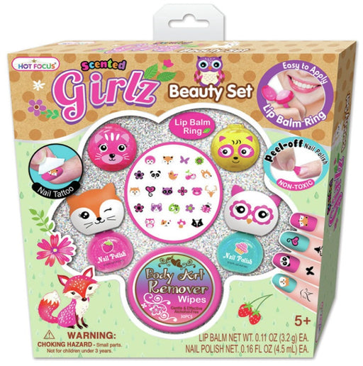 Hot Focus HF-182BFC  Scented Girlz Beauty Set Flower Critter