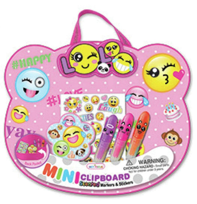 Hot Focus HF-370EM  Mini Clipboard Emoji Set Stickers Marker