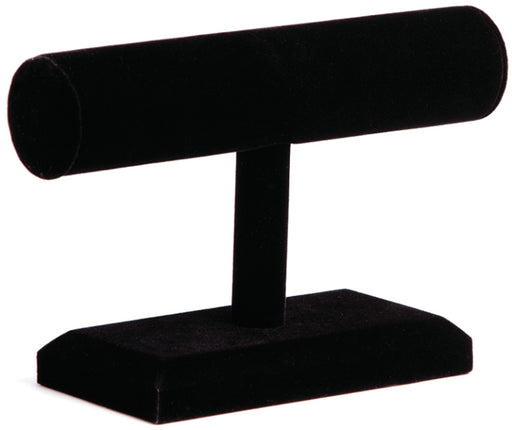 M&M 219BK   Round Shape T-Bar Black Velvet