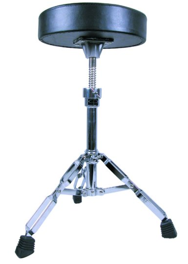 GP Percussion Double Braced Drummer's Throne with Height Adjustment