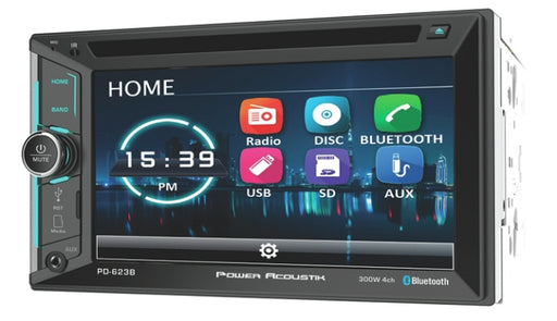 Power Acoustik  OW-PD-623B   2-Din 6.2in LCD Source w/Bluetooth
