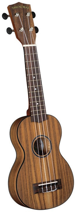 Diamond Head DU-350 Flamed Acacia Soprano Ukulele Outfit