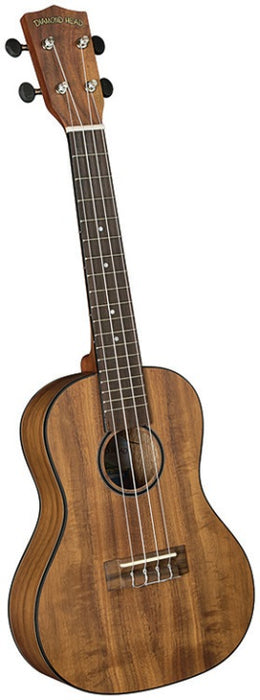 Diamond Head DU-350C Flamed Acacia Concert Uke Ukulele Outfit