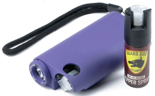 Guard Dog Stun/Pepper Spray/Flashlight Purple