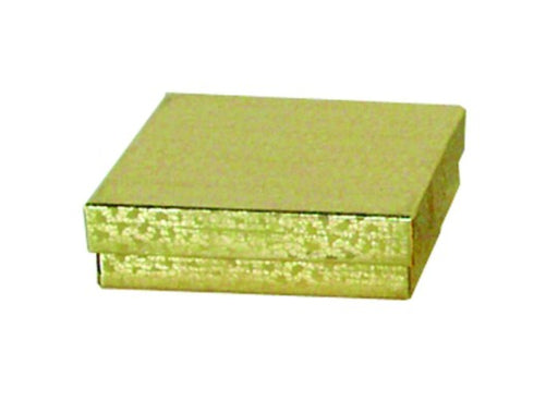 "M&M EGB33 Gold Cotton Filled Box 3 1/2"" x 3 1/2"" x 1 1/2"""