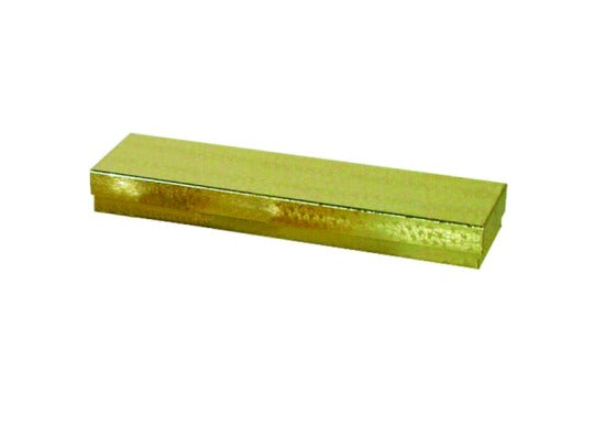"M&M EGB82 Gold Cotton Filled Gold Foil Box 8"" x 2"" x 7/8"""