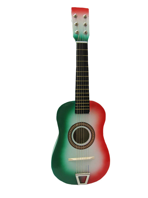 202-MFG 23 inch Acoustic Guitar RED/White/Green