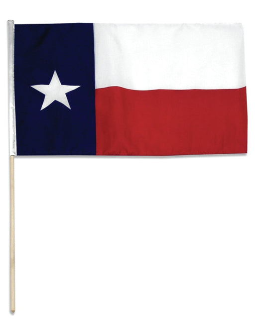 Texas 12 x 18 inch Flag on 30 inch stick