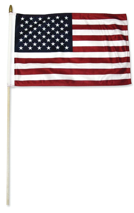 Flag USA 12 x 18 inch Flag on a 30 inch