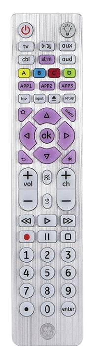 GE 6-Device Universal Remote Control Designer Series LED Backlit