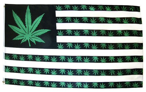 FLAG-833838 USA Weed 7 Point 3x5ft Polyester Flag
