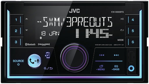 JVC JV-KWX830BTS Double-Din Media Center iOS Android