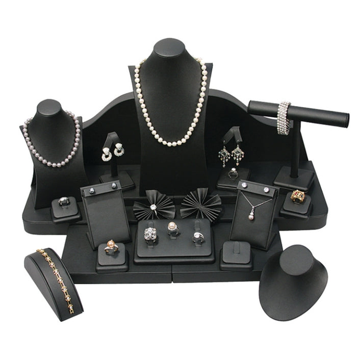 SET65BK 24-Piece Black Leatherette Display Set
