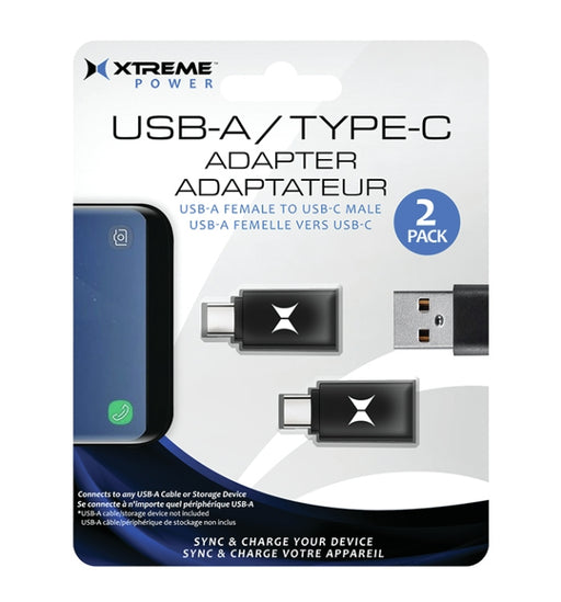 Xtreme XT-XCB21014PP1 2 pack USB-C to USB-A adapter